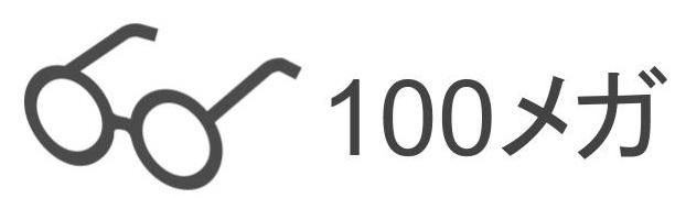 100メガ